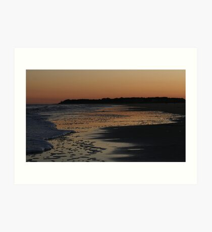 Froth in the sunset Art Print