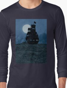 Sailing Under The Moon Long Sleeve T-Shirt
