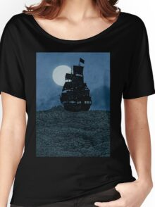 Sailing Under The Moon Women's Relaxed Fit T-Shirt