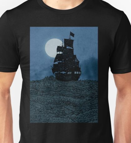 Sailing Under The Moon Unisex T-Shirt