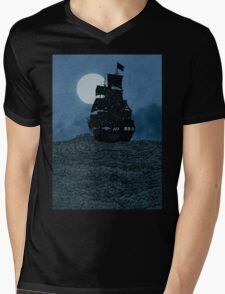 Sailing Under The Moon Mens V-Neck T-Shirt