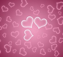 Love, Romance, Hearts - White Purple Pink by sitnica