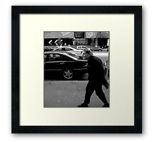 Old Lady Walking Framed Print