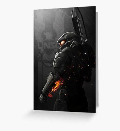 Halo 4 Master Chief - United He Stands Greeting Card