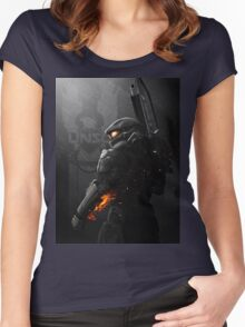Halo 4 Master Chief - United He Stands Women's Fitted Scoop T-Shirt