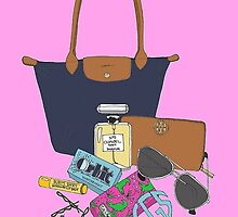 Preppy Tote and Accessories by Emily Grimaldi