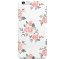 Beautiful roses. Hand-drawn watercolor floral pattern iPhone Case/Skin