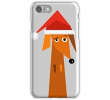 Dachshund Ready For Christmas  iPhone Case/Skin