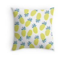 Pineapple Yummy Yellow Summer Fruit Throw Pillow