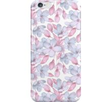 Pattern with delicate flowers iPhone Case/Skin