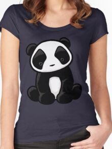 Cute Panda Women's Fitted Scoop T-Shirt