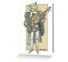 Banjo Lion Greeting Card