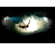 "Splashing Down - A moment from ""Fuerza Bruta"" Photographic Print"