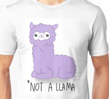 *NOT A LLAMA (Purple) Unisex T-Shirt