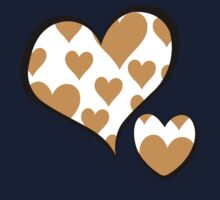 Love, Romance, Hearts - White Brown Kids Clothes