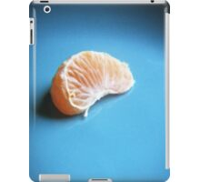 Orange On Blue iPad Case/Skin