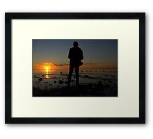 The movie maker Framed Print