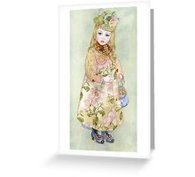 "Watercolour from a series ""Doll"" Greeting Card"