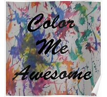 Color Me Awesome Poster