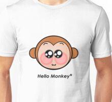 Hello Monkey T-shirts Unisex T-Shirt