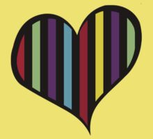 Stripes (Parallel Lines), Heart - Red Blue Green Pink Kids Clothes