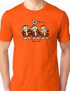 Three Wise Soccer Monkeys Unisex T-Shirt