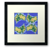 Map of Oz Framed Print
