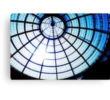 milan shopping centre roof Canvas Print