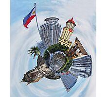 Little Planet: Manila Photographic Print