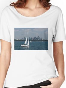 Summer Sailing Postcard from Toronto Women's Relaxed Fit T-Shirt