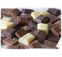 Mixture of Different Colour Chocolate Blocks Poster