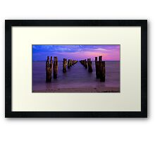 Down the Middle  *Clifton Springs* Framed Print