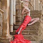 Nude on the steps by John Tisbury