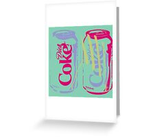 Diet Coke Can (Remix) Greeting Card