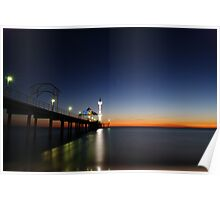 Brighton Beach At Sunset - Adelaide - South Australia Poster