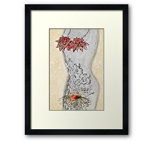 Love is when there is a mystery. Framed Print