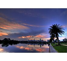Albert Park Lake, Melbourne Photographic Print