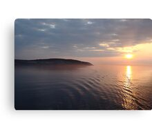 Sunrise over the Isle Of Man Canvas Print