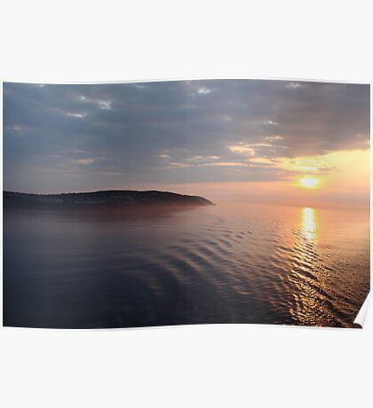 Sunrise over the Isle Of Man Poster