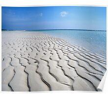 Endless Maldivian Beach Poster