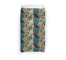 Contemplating Mediterranean Vacations - Via Krupp, Capri Island, Italy Duvet Cover