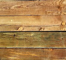 Barn Wall Made of Pine Wooden Planks - Brown by sitnica