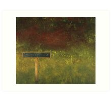 The Last Signpost Art Print