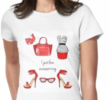 I just love accessorizing Womens Fitted T-Shirt