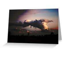 Chasing the Cloud : Turbulent 1 Greeting Card