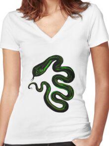 Snake Eyes Women's Fitted V-Neck T-Shirt