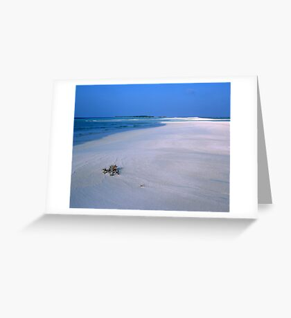 Heavenly Maldives Beach Greeting Card