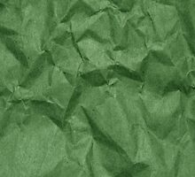 Wrinkled Paper, Crumpled Paper Texture - Green by sitnica