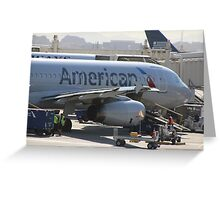 American Airline Greeting Card