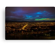 Late Dusk View Of Cuenca From Turi Canvas Print